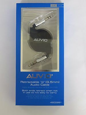 Auvio Retractable 3.5mm Headphone Audio Cable