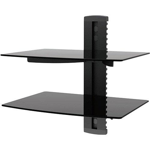 Two Shelf Dual Tier Component Wall Mount